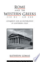 Rome and the Western Greeks, 350 BC-AD 200